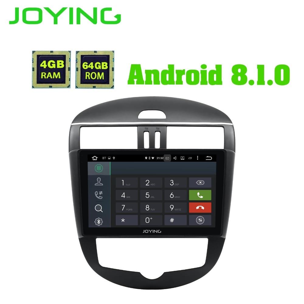JOYING 10.1 IPS Screen 4G ram Android 8.1 GPS Unit Radio Car Stereo Player Autoradio for Nissan Tiida/Versa 2011 2015 Head Unit
