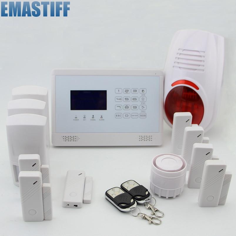 Wireless&Wired GSM Home Security Burglar Alarm System+IOS/ Android App+outdoor flash siren+Door detectors wireless smoke fire detector for wireless for touch keypad panel wifi gsm home security burglar voice alarm system