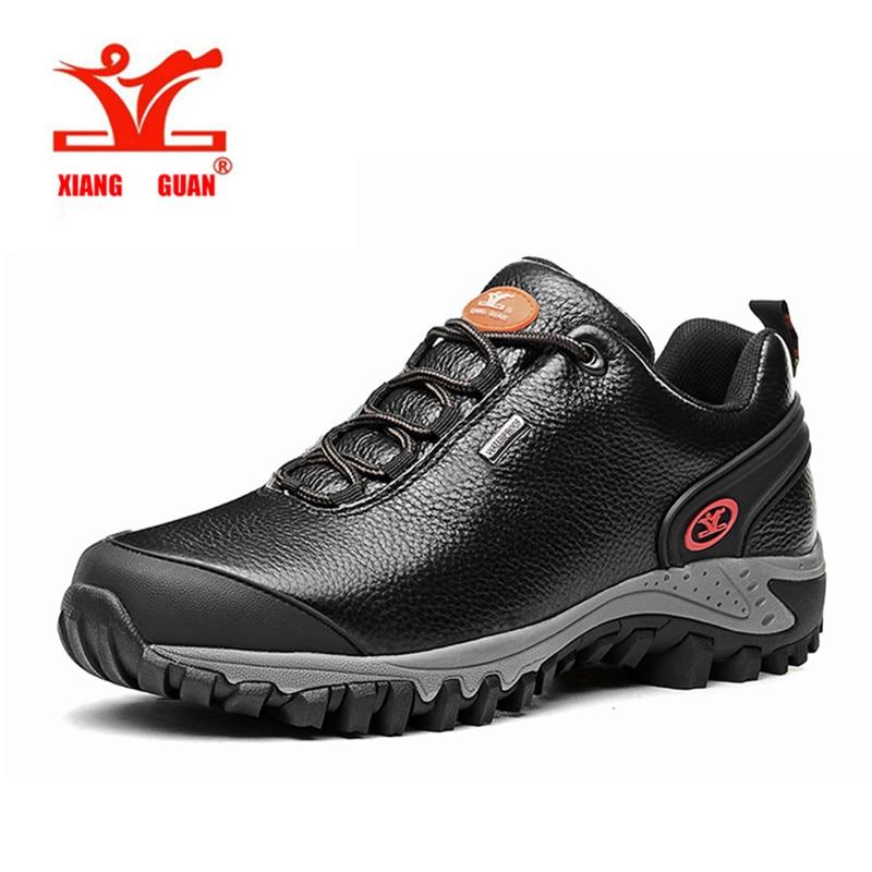 XIANGGUAN New Style Hiking Mountain Shoes Men Waterproof Trekking Hunting Climbing Boots Trail Outdoor font b