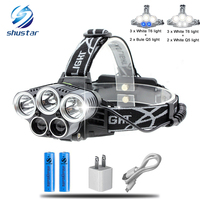 Ultra Bright 5 CREE Led Headlamp XM L T6 Q5 Headlight 15000 Lumens Led Head Lamp