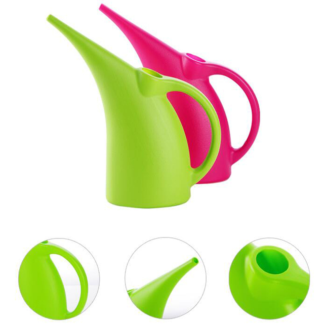 2l 3l Durable Watering Can Long Spout Flower Garden Tools Handy Home Green Potted Small Shower