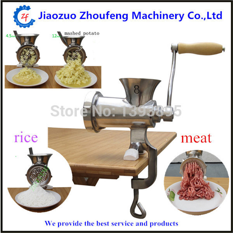 Meat grinder high quality stainless steel manual mini home use meat mincer kitchen tool 8#  ZF