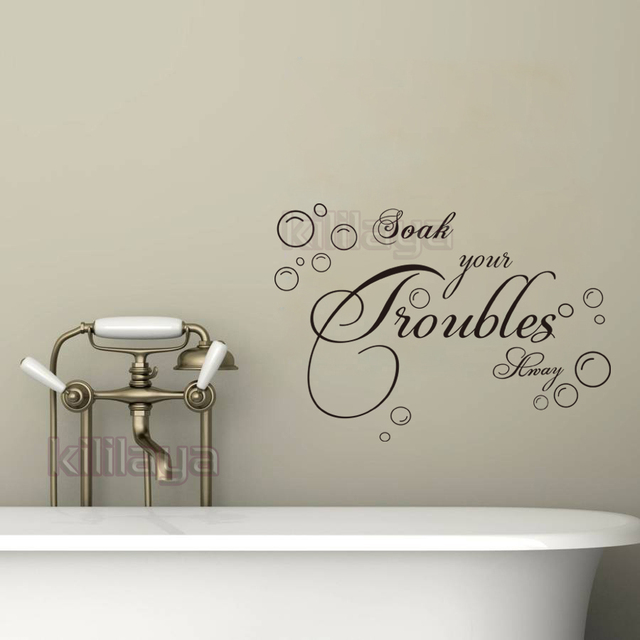 Exceptional DIY Bubble Bathroom Wall Stickers Waterproof Removable Soak Your Troubles  Away Wall Decals Wallpaper For House
