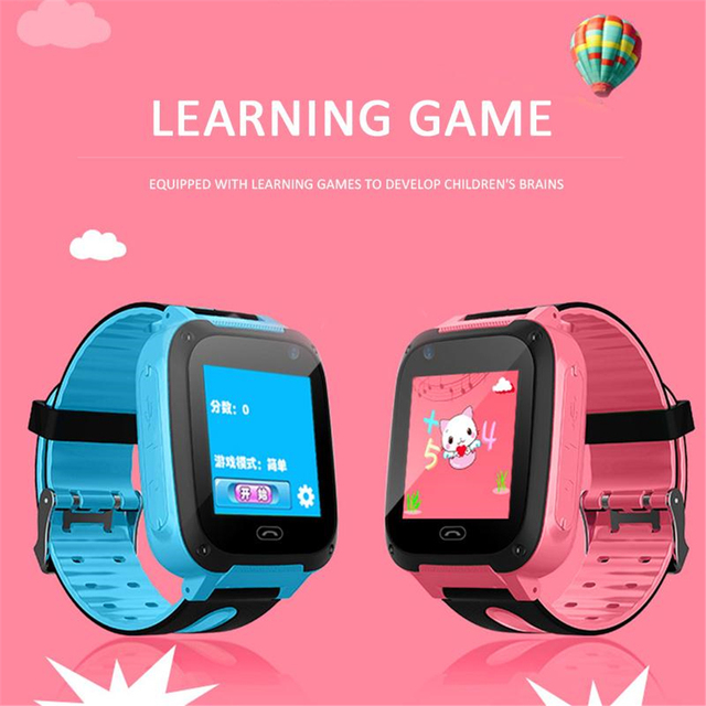 S4 Kids Smart Watch Dial Call Smartwatch Waterproof Children Smart Watch Antil-lost Tracker Smartwatch No GPS Kids X-mas Gifts.