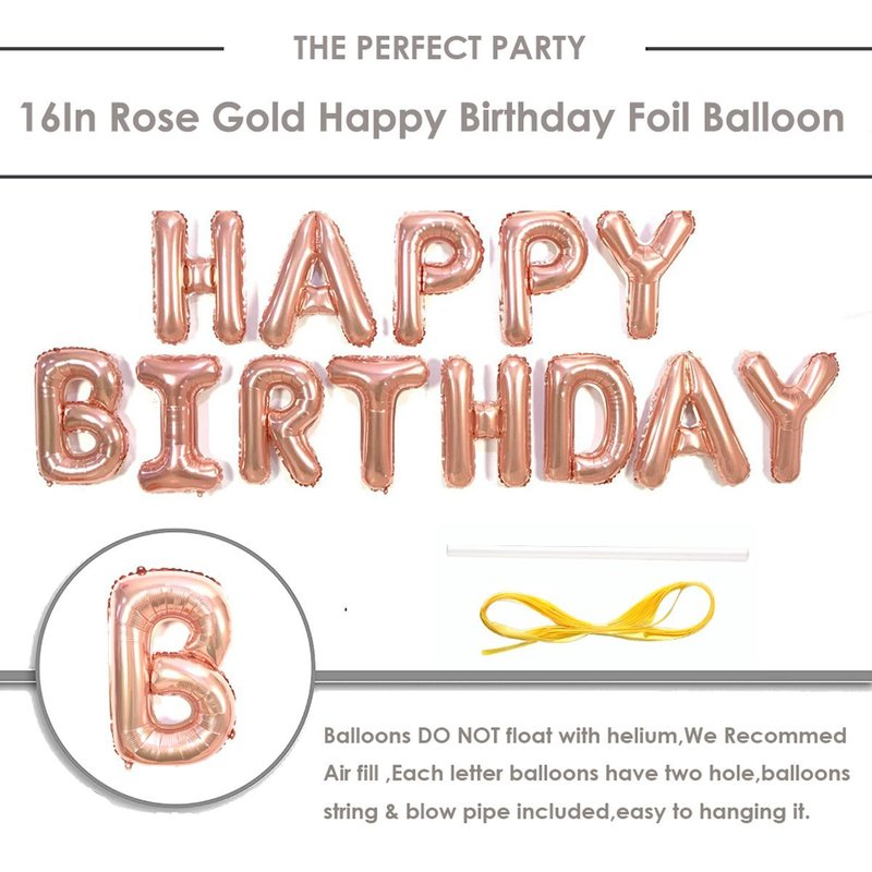 Amawill Rose Gold Happy 70th Birthday Decorations Set Foil Globos Banner 12inch Latex Balloons For 70 Years Party Supplies 75D In DIY From