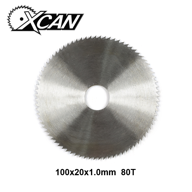 XCAN 1pc Diameter 100mm 80T Ultra-thin Woodworking Saw Blade Manganese Steel Circular Saw Blade For Wood Cutting