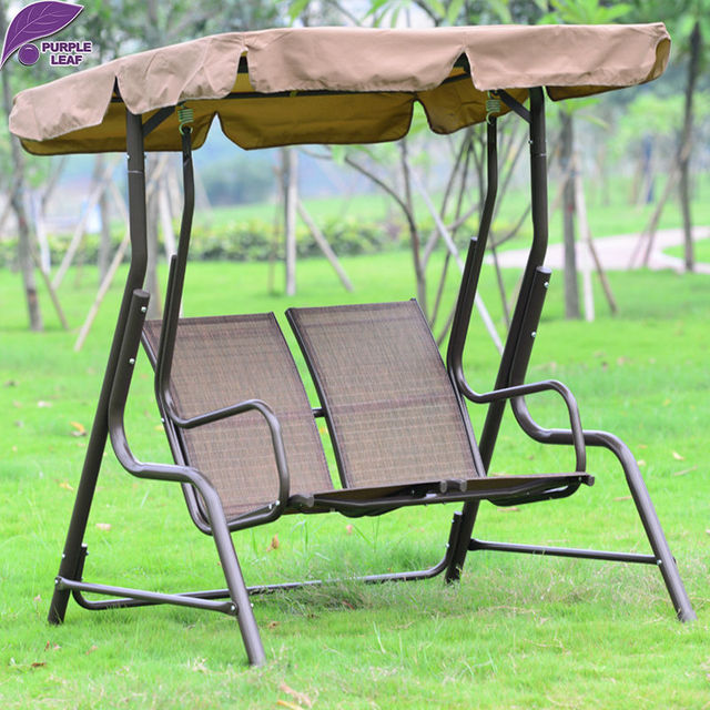 Purple Leaf Outdoor Patio Swing Balcony Swing Hanging Chair High Quality  Courtyard Rocking Chair Alloy Steel