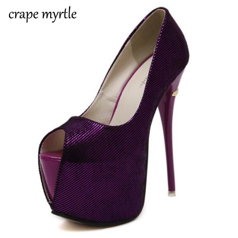 333c3eed9d43b7 Brautschuhe frauen schuhe heels Plateau pumps peep toe 16 cm High Heels schuhe  blau rosa heels sexy heels lila pumpen YMA78 in Brautschuhe frauen schuhe  ...