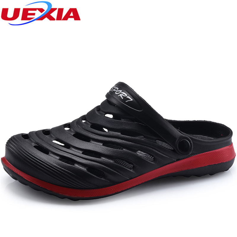 UEXIA Flip Flops Men Sandals Summer Breathable Man Shoes Sneakers Fashion Men Beach Sandals Male Casual Footwear Slip on Flats