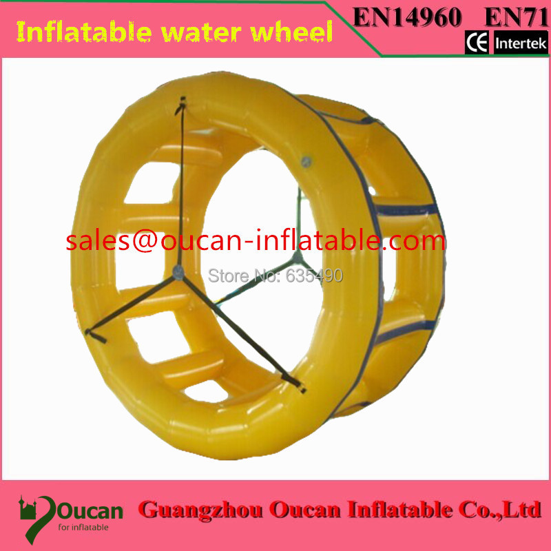 0.9mm PVC Inflatable water wheel, inflatable water toys for water park, inflatable water walking wheel