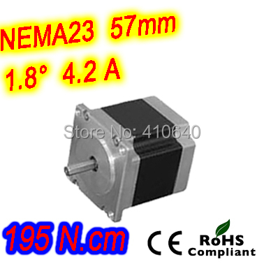 цена 3 pieces per lot high torque step motor 23HS45-4208S L 115 mm Nema 23 with 1.8 deg 4.2 A 195 N.cm and bipolar 8 lead wires