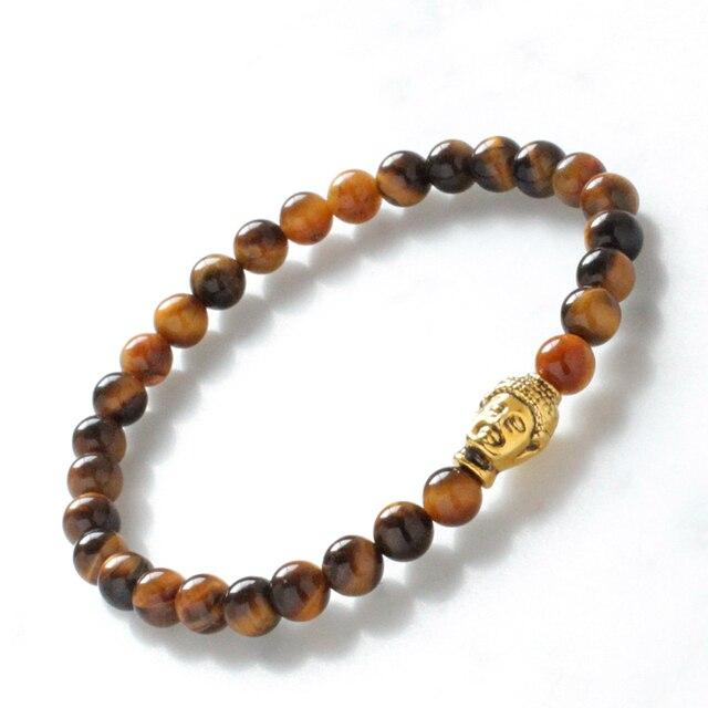 Mcllroy Men S Buddha Bracelet Tiger Eye Pray Femme Yoga Meditation Jewelry For Mens Amulet