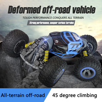 1:12 4WD RC Car Scale double sided 2.4GHz a key transformation vehicle all terrain Varanid escalada Coche control toy