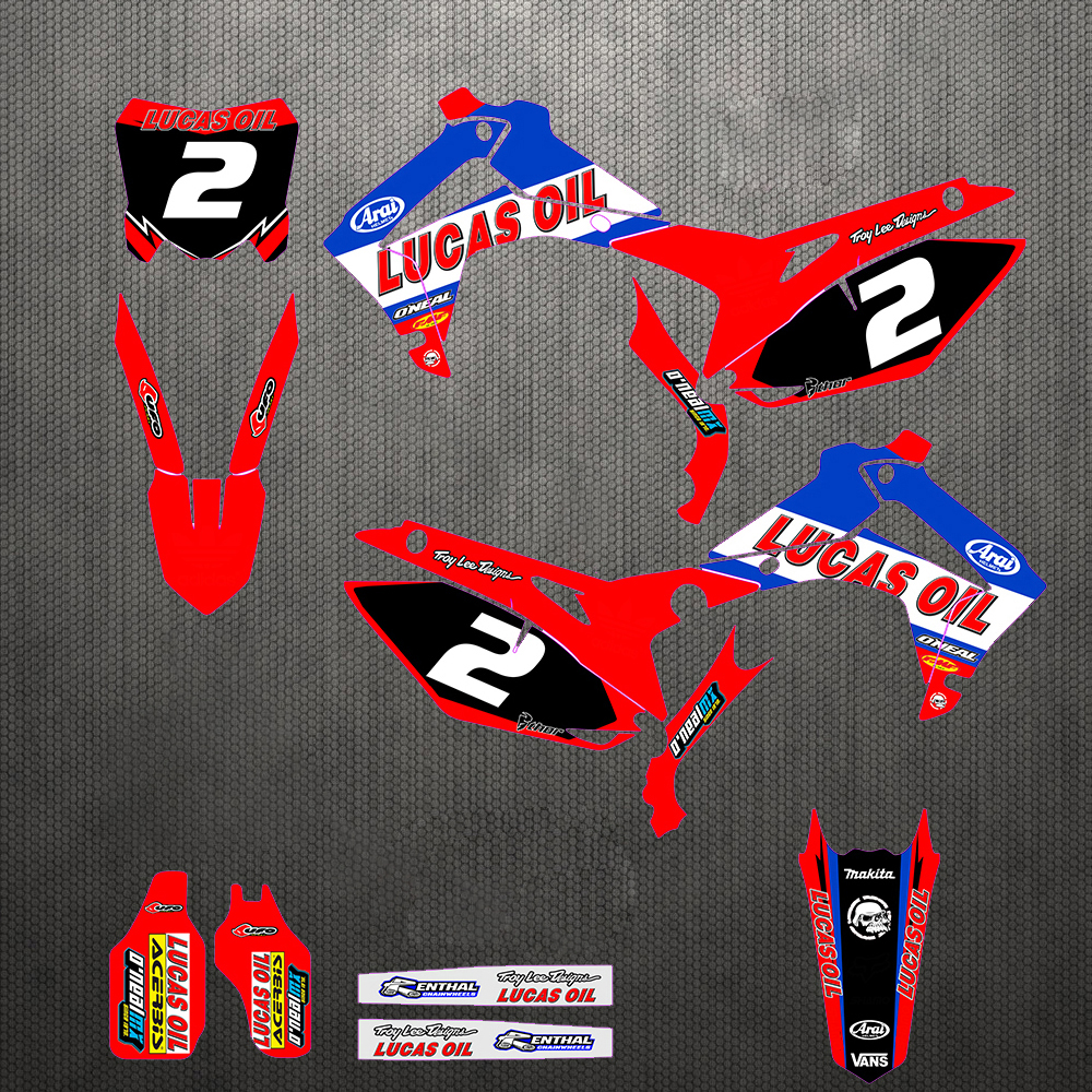 Customized Gloss GRAPHICS DECAL STICKER For Honda CR125 CR250 CRF250R CRF250X CRF450X CRF450R CRF150R CRF250RX CRF450RX All Year