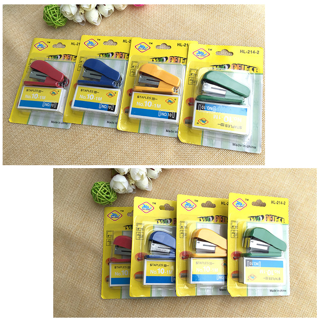 FangNymph Useful Portable Kawaii Super Mini Small Stapler Mini Stapler Staples Set Office Binding Stationery Random Color