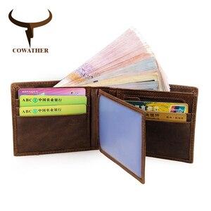 Image 5 - Cowather 100% Top Kwaliteit Koe Lederen Mannen Portefeuilles Fashion Splice Portemonnee Dollar Prijs Carteira Masculina Originele Merk