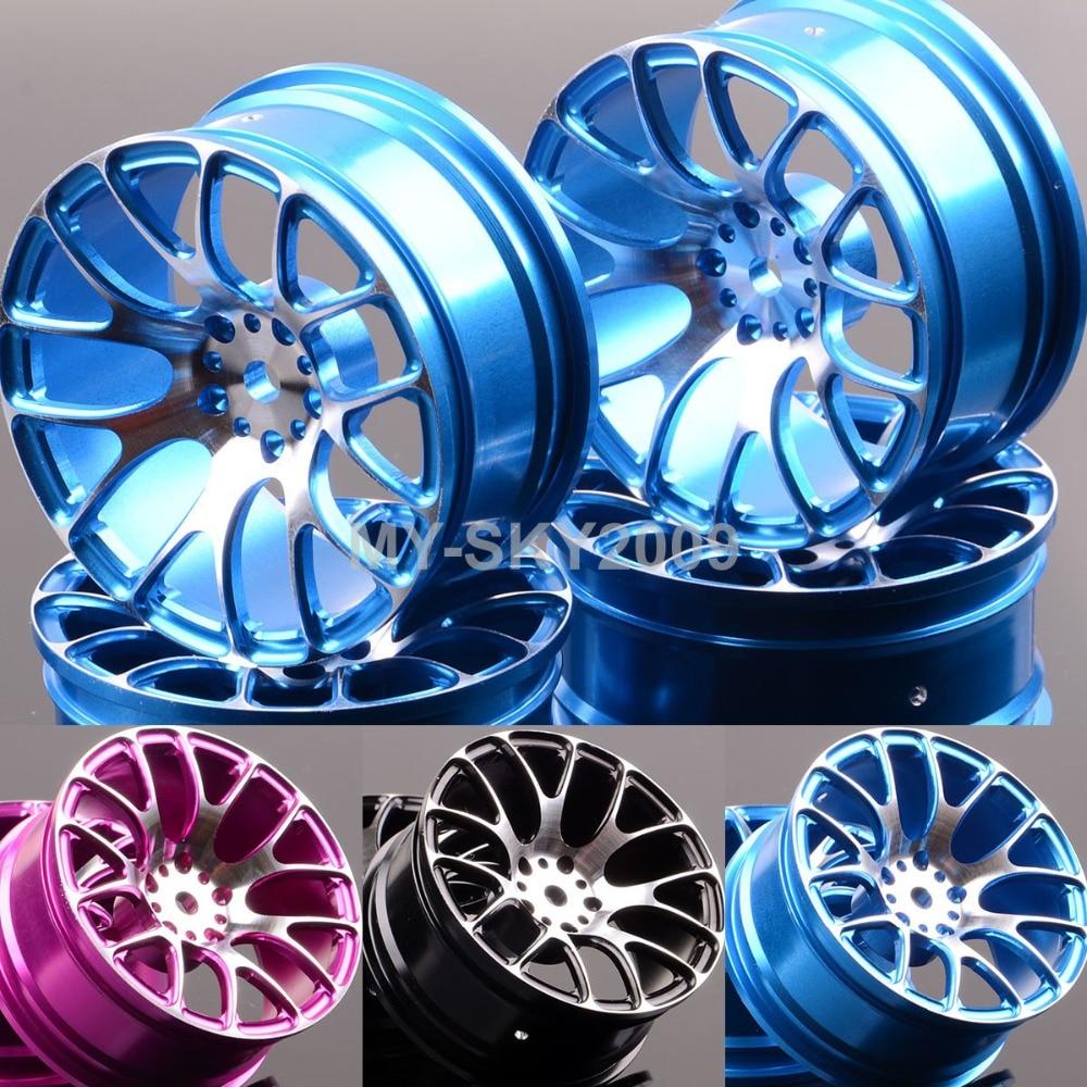4pcs Aluminum 7Y Wheel Rims 1055 For 1:10 RC On-Road Drift Sakura HPI Tamiya HSP Racing 4pcs wheel rims