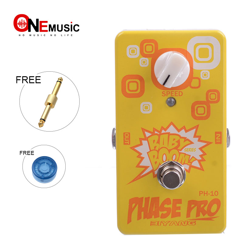 Biyang Baby Boom PH 10 Vintage Vibe Effect Phase Pro True Bypass Guitar Effect Pedal With