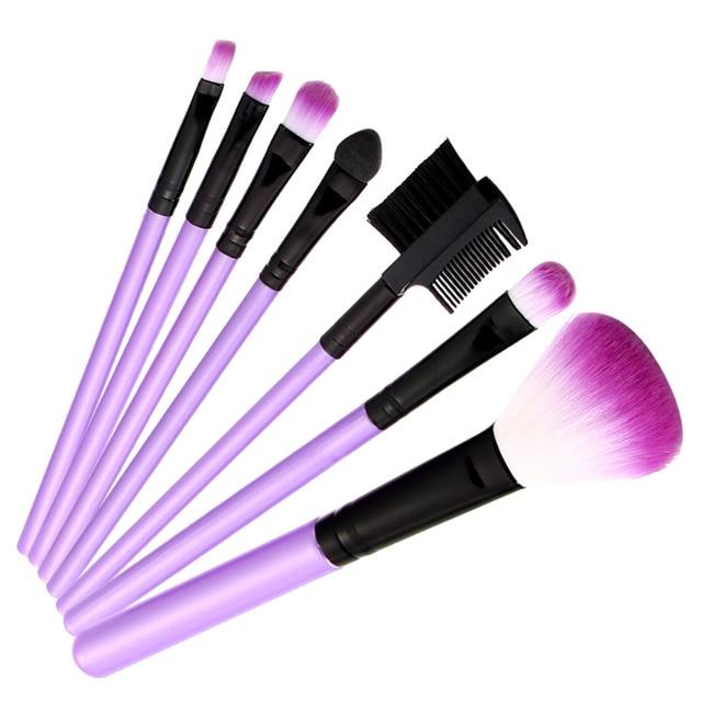Nuevo 28 de Color Tierra de Sombra de Ojos En Polvo + 7 Unidades de Maquillaje Profesional Cepillos Cosméticos Sombra de Ojos Paleta de Sombras de Ojos Sombras