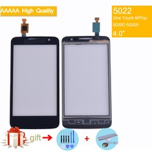 Original For Alcatel One Touch M'Pop OT5020 5020D 5020 5020X Touch Screen Touch Panel Sensor Digitizer Front Outer Glass NO LCD alcatel one touch sp 6045 g6045 3aalspg original