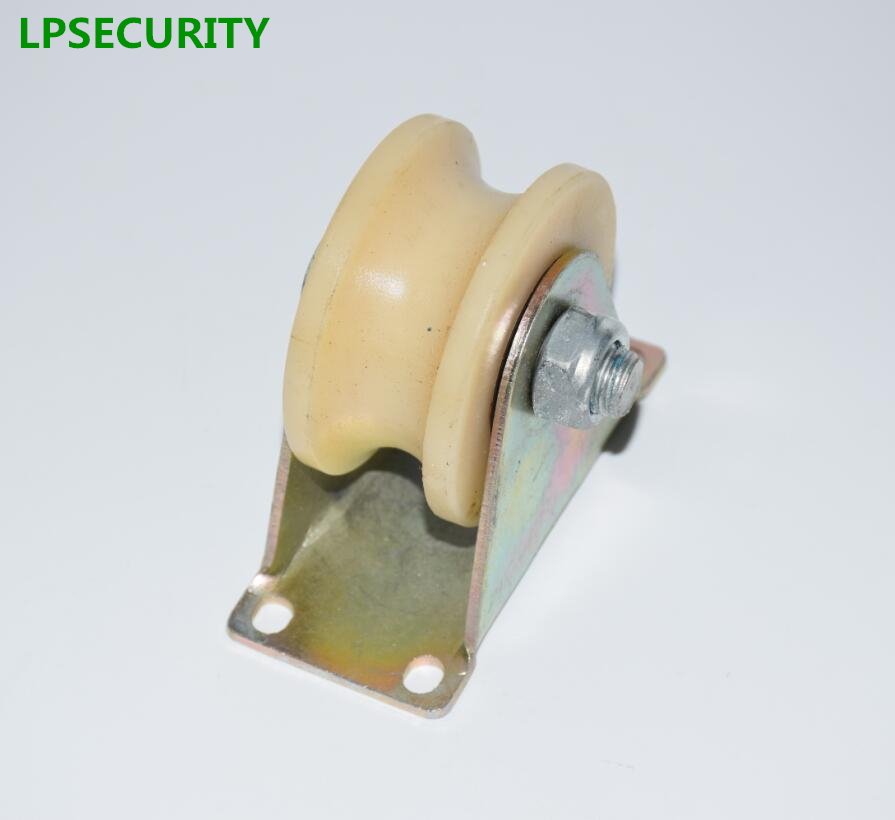 LPSECURITY 1.2inch Nylon (V  U Groove Options) Pulley For Iron Gate/slide Wheel Roller For Swing/sliding Door With Wheel