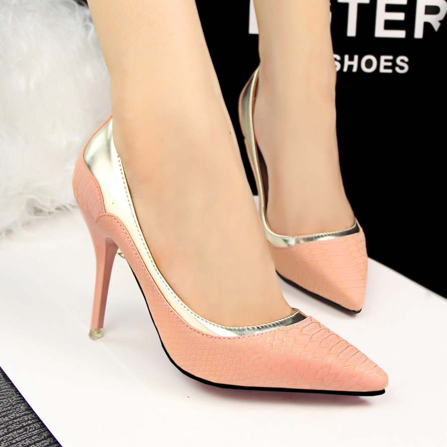 2017 Fashion Pump New Arrival Women Office Lady Close Pointed Toe High Heels Shoes Black Pink Beige Orange Light Green Colors In S Pumps From On