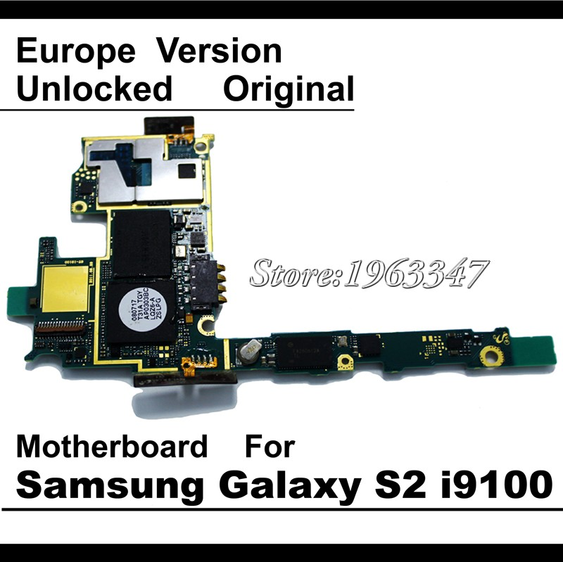 100 Working Unlocked Original Mainboard For Samaung Galaxy S2 i9100 motherboard EU version With Full Chips