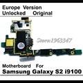 100% abierto de trabajo mainboard original para samaung galaxy s2 i9100 versión de la ue con fichas completas de la placa lógica motherboard