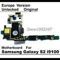 100% de trabalho mainboard para samaung galaxy s2 i9100 desbloqueado originais motherboard placa lógica da ue versão com fichas completas