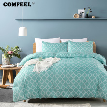 COMFEEL 2019 Simple Style Comforter Bedding Set Classic Color Kids Twin Beds Duvet Cover with Pillowcases King Size Bed Sheet