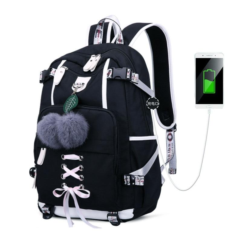 Fashion School Backpack For Girl Waterproof Polyester Girls School Bags Preppy Style Travel Bag Bookbags For Women Satchel