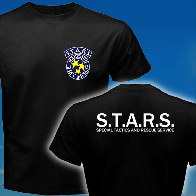 STARS Resident Evil Umbrella Corp Biohazard  Police T-Shirt