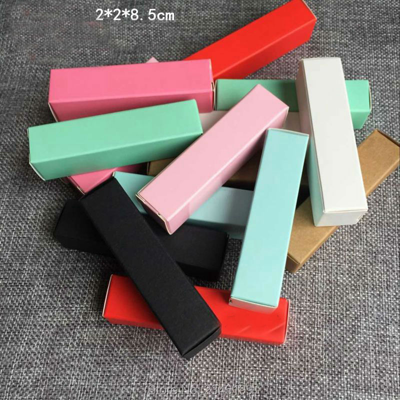 100pcs/lot Colorful Lipstick Tube Packing Box, Beauty Lip Balm Container Package Case