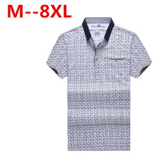 large size 8XL 7XL 6XL brand polo shirt polo gents men's casual polo men cotton shirt male Original Slim Fit Shirtsfree delivery
