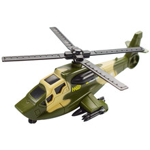 1 Pcs/set Toy Alloy Car Military Helicopter Model Diecast Delicate Pullback Toy Transport Vehicle for Children Gift Toy(China)