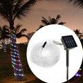 Excelente Calidad Tubo de la Cuerda de 10 M 100 LED Solar Llevó la Luz de Tira de Cuerda Al Aire Libre Del Jardín Del Partido de Navidad Decoración Impermeable