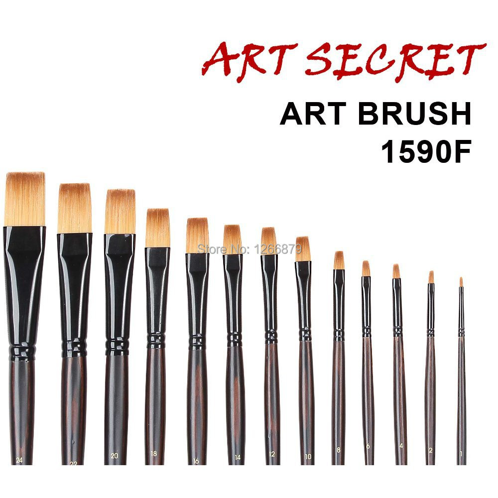 1590F High Quality Korea Imporitng Taklon Hair Art Supplies Paint Watercolor Acrylic Artist Brush