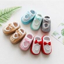 Cute Baby Socks with Rubber Soles Infant Newborn Baby Girls Boys Autumn Children Floor Socks Shoes Anti Slip Soft Sole Sock все цены