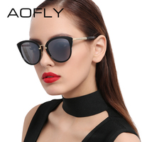 AOFLY Elegant Sunglasses 2017 Cat Eye Sun Glasses For Women Fashion Ladies Eyeglasses Vintage Metal Legs