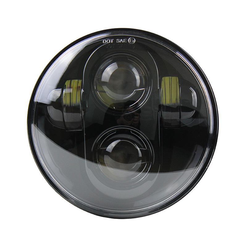 5.75 5 3/4 LED Motorcycle Headlight Daymaker Black For Harley Spotster 1200 XL 1200L Custom XL 1200C 883 XL833 883L XL883R 48 2017 new cnc motorcycle derby timing timer covers cover for harley davidson xlh xl 883 883l 1200c 1200l sportster 883n iron