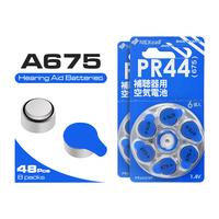 High quality cell battery 48Pcs ZA675 coin battery zinc air 675A A675 PR44 for hearing aid button battery 1.4V