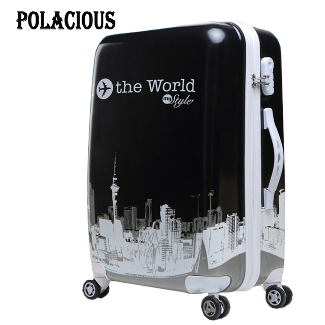 """20"""" 24"""" inches Fashion classic day and night Trolley suitcase luggage/Pull Rod trunk /traveller case box with spinner wheels"""