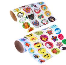 100pcs 1 roll reward stickers roll kids sticker scrapbooking star 3D cartoon characters funny Toys for
