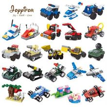 22 kinds Military Tank Aircraft Fire truck Lifeboat Racing car LegoINGlys Building Blocks Toys Best Gift To Children(China)