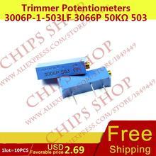 1 лот = 10 шт. триммер Делители напряжения 3006p-1-503lf 3066 P 50 ком 503 50000ohm series3006p переменный резистор