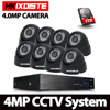 8CH CCTV Surveillance Kit 4MP Security Camera System 8CH AHD DVR NVR 4MP Video Output 8pcs