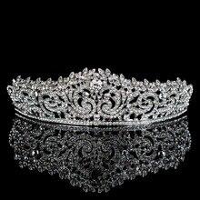 Topwedding Стразы Свадебный головной убор свадебная тиара Корона, для женщин