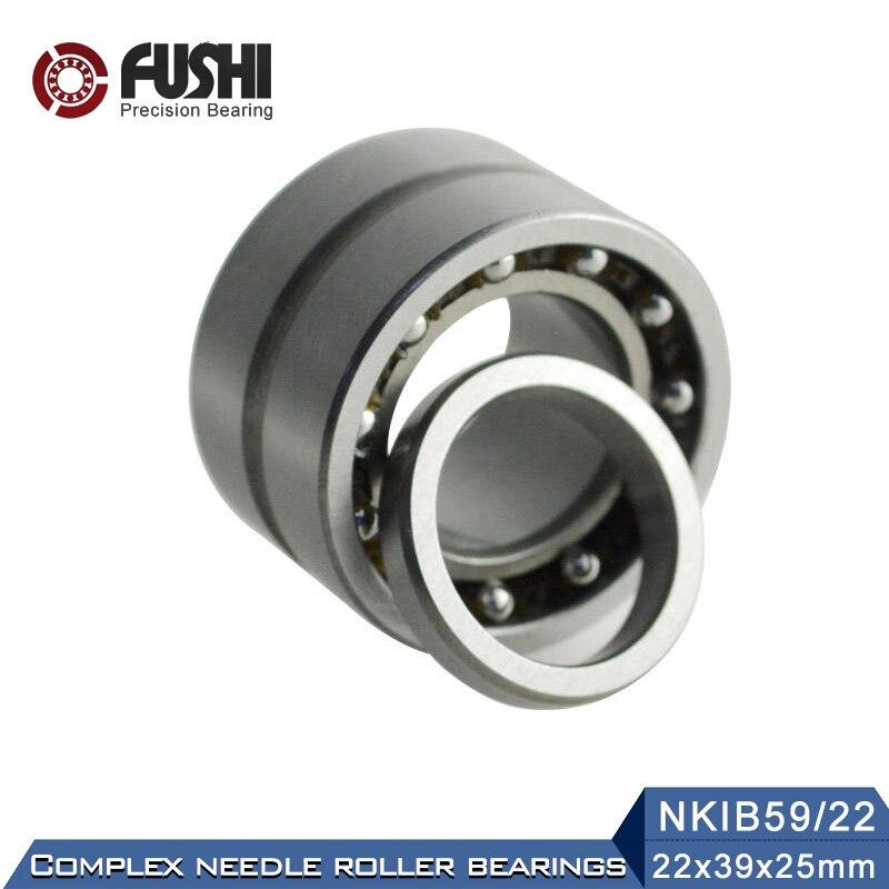 NKIB59/22 Complex Bearings 22*39*25mm ( 1 PC) Needle Roller Angular Contact Ball Bearing NATB59/22 NATB 59749/22NKIB59/22 Complex Bearings 22*39*25mm ( 1 PC) Needle Roller Angular Contact Ball Bearing NATB59/22 NATB 59749/22