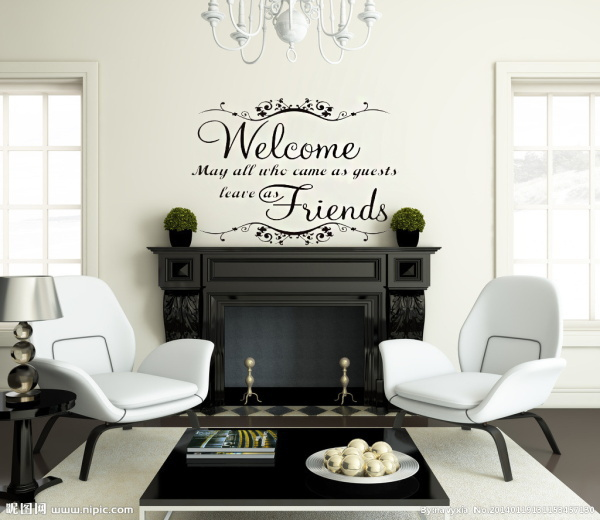 Classical welcome friends warm words wall stickers waterproofing home decor home decoration wall stickers vinyl wall stickers .h