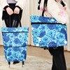 Wholikes Brand Folding Portable Shopping Bags Buy Vegetables Bag High Capacity Shopping Food Organizer Trolley Bag